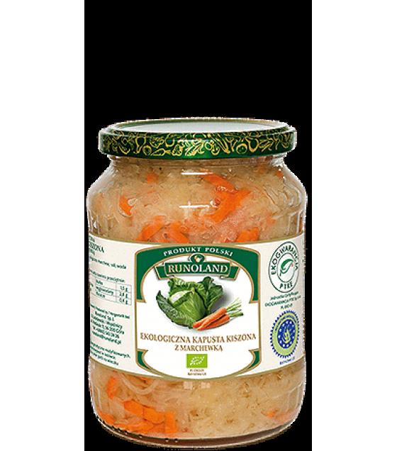 RUNOLAND ORGANIC Sauerkraut with Carrot - 680g/410g (exp. 10.03.21)