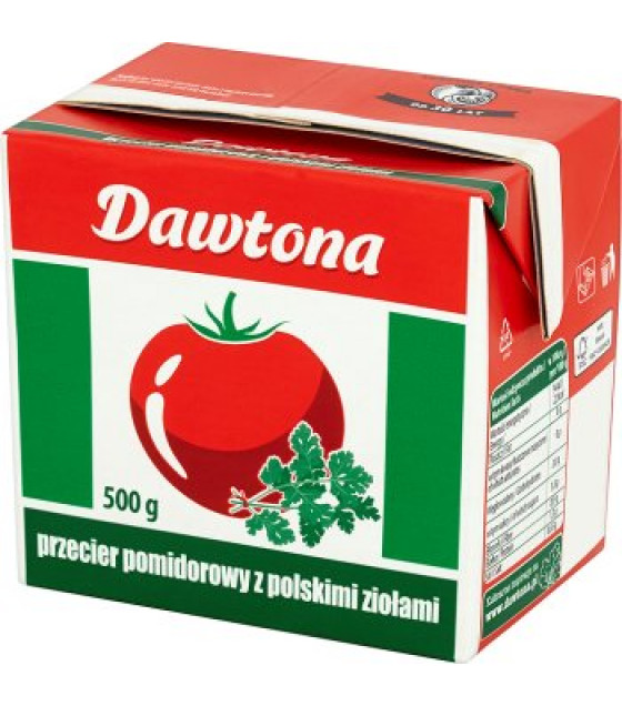 "DAWTONA Tomato Puree ""With Polish Herbs"" - 500g (best before 05.09.22)"