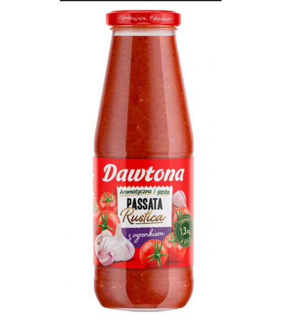 DAWTONA Tomato Passata Puree with Garlic - 690g (best before 27.08.23)