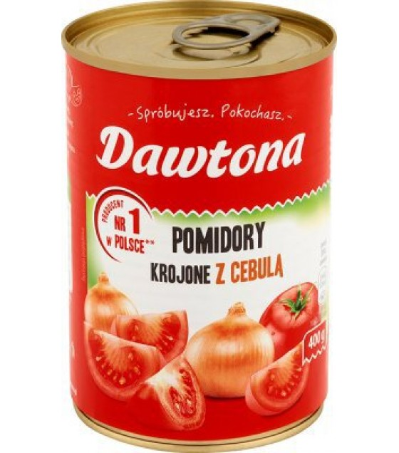 DAWTONA Diced Tomatoes with Onion - 400g (exp. 20.02.2020)