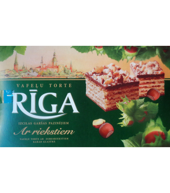 RIGA Wafer Cake with Hazelnuts - 320g (best before 14.10.21)