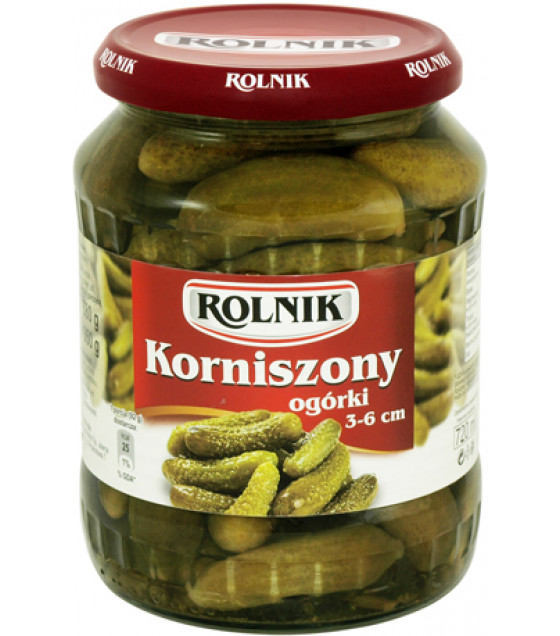 "ROLNIK Pickles Dill Cucumbers ""Korniszony"" - 680g (best before  31.12.22)"