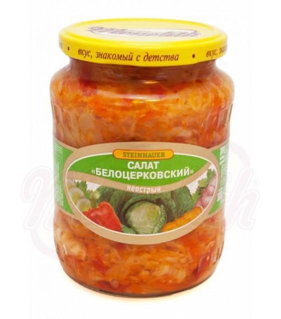"""STEINHAUER Vegetable Salad """"Belotserkovskiy"""" Not Spicy - 720g (best before 02.11.22)"""