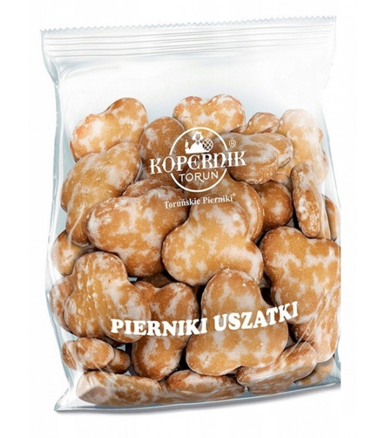 KOPERNIK USZATKI Sugar Covered Gingerbread Cakes (Pierniki) - 153g (best before 30.11.21)