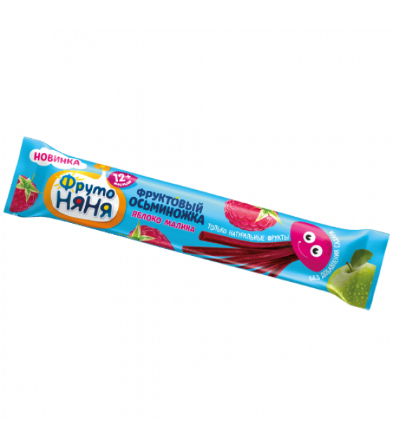"""FRUTO-NANYA Fruit Snack with Apple and Raspberry """"Fruit Octopus"""" (from 12 months) - 16g (best before 09.03.22)"""