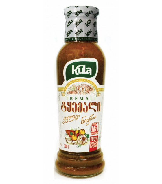 KULA Tkemali Georgian Classical Yellow Sauce - 365g (best before 28.01.23)