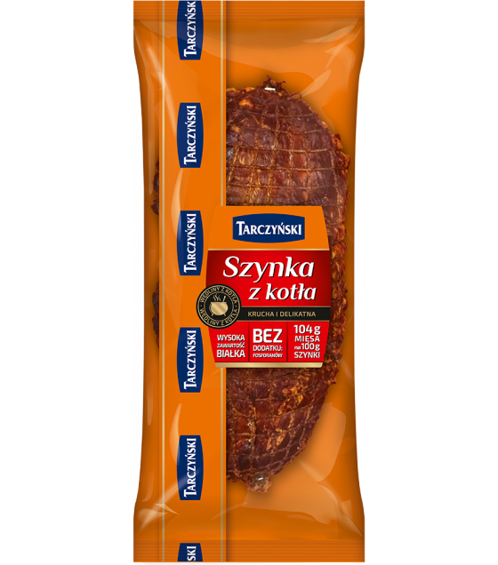 "TARCZYNSKI Ham From a Cauldron ""Szynka z Kotla"" - around 1500g (weight) (best before 28.10.20)"