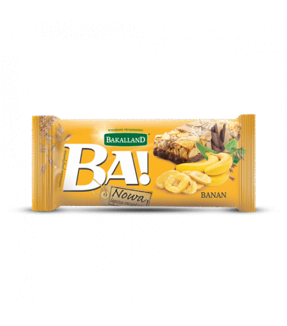 "Energy Cereal Bar ""Bakalland BA!"" Banana - 40g (exp. 31.01.20)"
