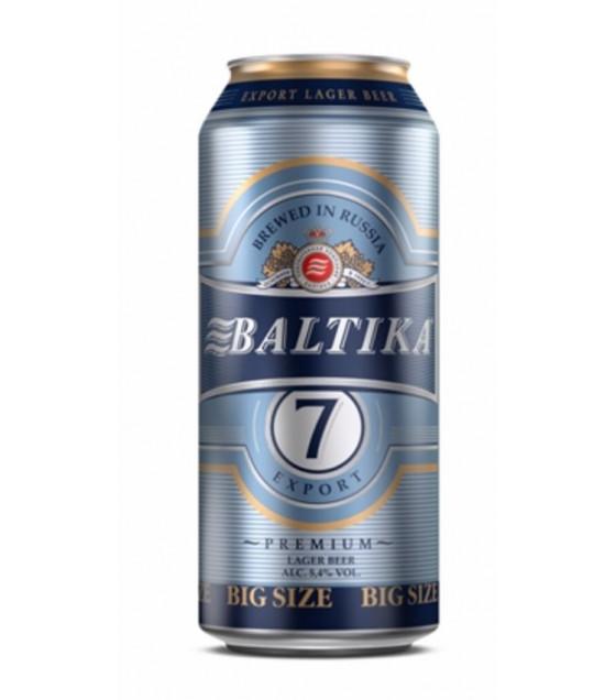 """Premium Beer """"Baltika N 7"""" pasteurized 5,4% (metal can) - 450ml (best before 19.05.21)"""