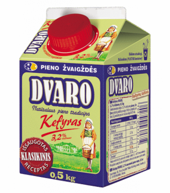 "SVALIA Kefir ""DVARO"" 3,2% fat - 500g (best before 08.10.20)"