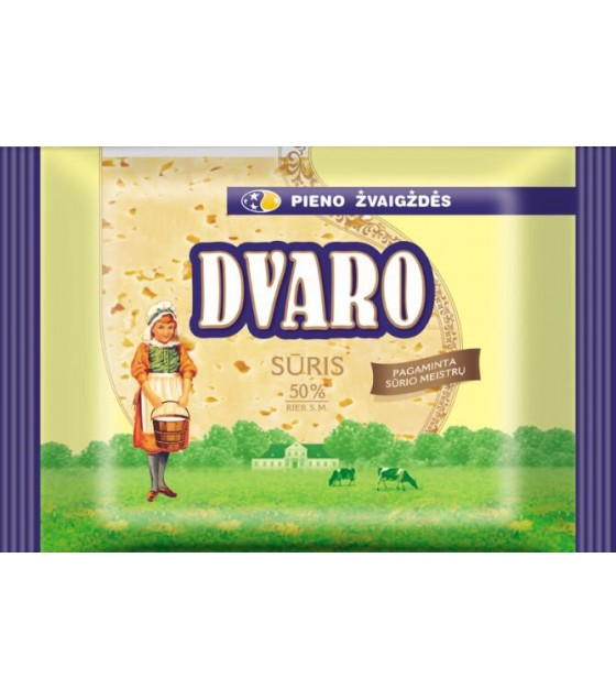 "SVALIA ""DVARO"" Semi Hard Ripened Cheese Pieces 50% - 240g (exp. 01.11.19)"