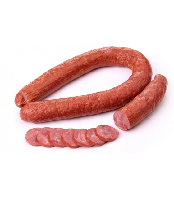 "BREST MEAT Cooked-Smoked Beef Sausage ""Govyajia"" (weight) - approx. 400g  (best before 23.02.21)"