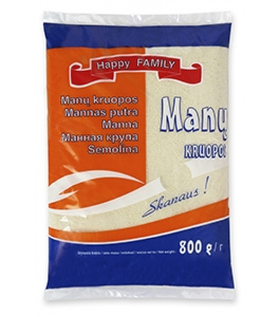 "SKANEJA Semolina ""Happy Family"" - 800g (best before 09.04.21)"