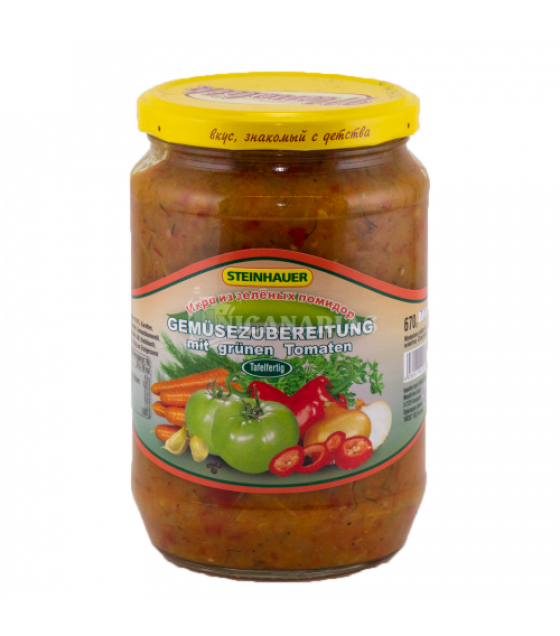 "STEINHAUER Vegetable Green Tomatoes Stew ""Ikra iz Zelenyh Pomidor"" - 720g (best before 07.09.22)"