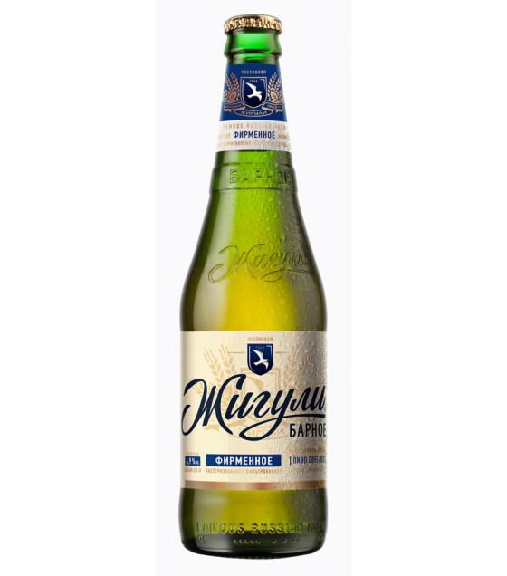 """Lager Beer """"Jiguli Barnoe"""" pasteurized 4,9% - 500ml (best before 28.11.21)"""