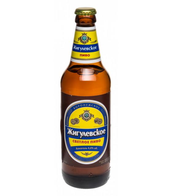 "Lager Beer ""Jigulevskoe"" (Helles Schankbier) 4,0% (bottle) - 470ml (best before 01.03.21)"
