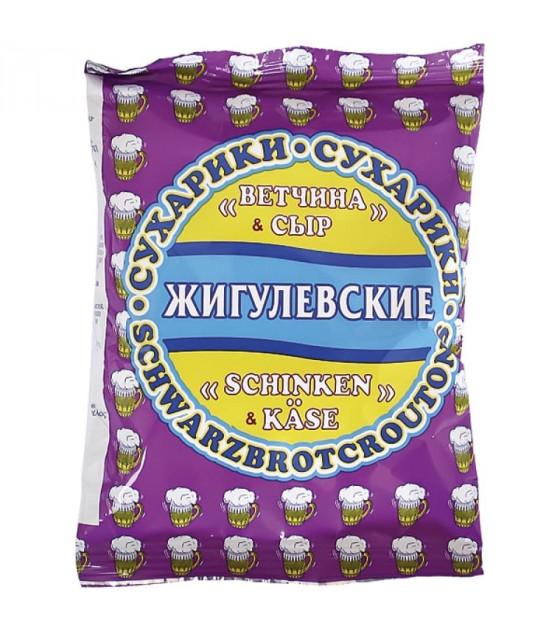 """STEINHAUER """"Jigulevskie"""" Croutons with Ham and Cheese Taste - 50g (best before 30.08.21)"""