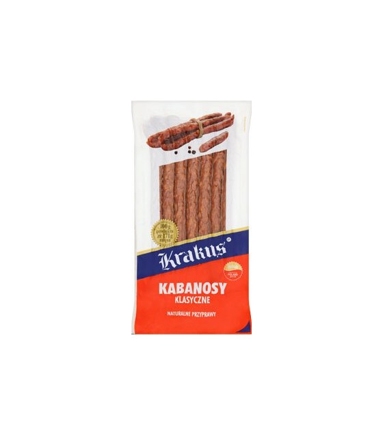 KRAKUS Kabanos With Pork Classic Smoked Sausages - 180g (exp. 05.04.20)