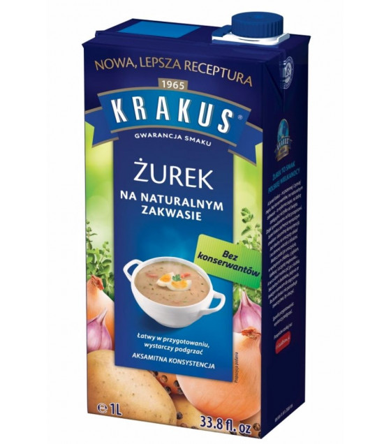 KRAKUS Sour Rye Soup Zurek (on Natural Sourdough) - 1L (best before 30.06.21)