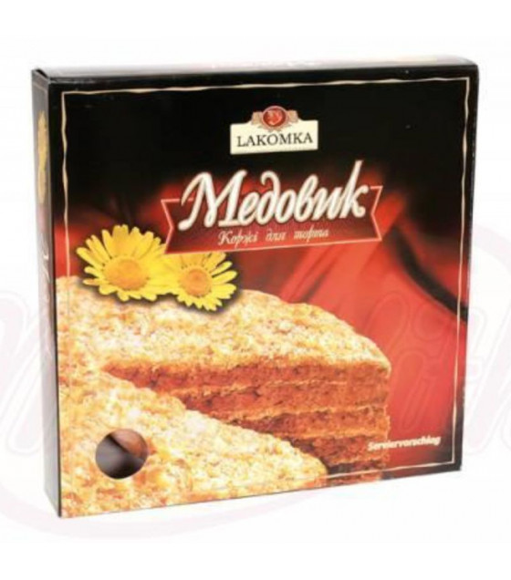 "LAKOMKA Cake Layers for ""Medovik"" (5 layers) - 500g (best before 19.07.21)"
