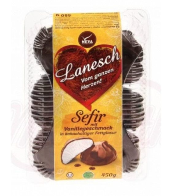 "NEVA Zefir Marshmallow ""Lanesch"" with Vanilla Flavour in Cocoa Glaze - 450g (best before 06.05.21)"