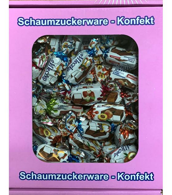 "DOBOSZ ""Mleczko"" Marshmallow Confectionery Mix (Cocoa, Peach, Strawberry, Lemon, Cream) - 300g (best before 20.04.21)"