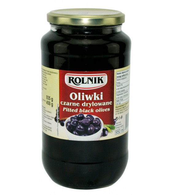 ROLNIK Pitted Black Olives - 935g (best before 02.04.23)