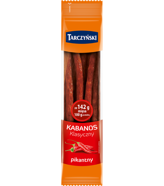 TARCZYNSKI Kabanos Classic Spicy Pork Smoked Sausages (Pikantny) - 200g (best before 09.12.20)