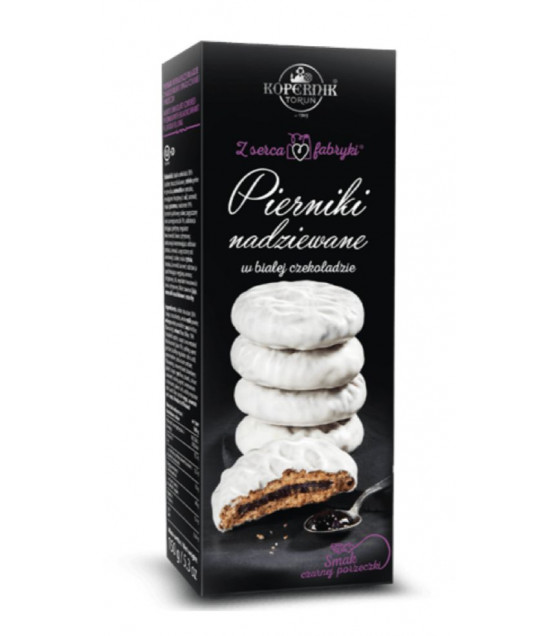 KOPERNIK White Chocolate Covered Gingerbread with Blackcurrant Flavour Filling - 150g (best before 30.11.21)