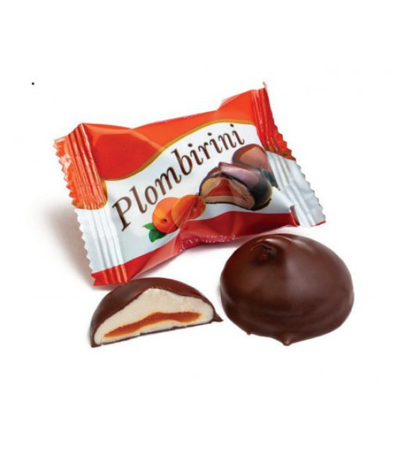 """SUVOROV Candies Glazed with Whipped Egg-white Corps """"Plombirini with apricot flavor"""" (weight) - 250g (best before 14.06.21)"""