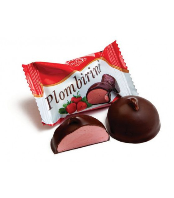 """SUVOROV Candies Glazed with Whipped Egg-white Corps """"Plombirini with strawberry flavor"""" (weight) - 250g (best before 14.06.21)"""