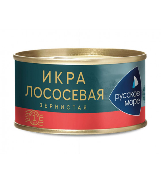RUSSKOE MORE Humpback Salmon Granular Caviar (Gorbusha) - 140g (best before 09.08.21)