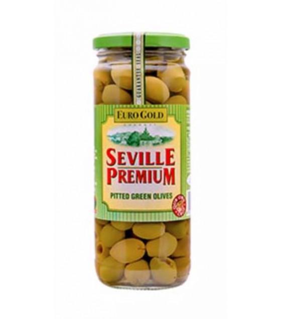 SEVILLE PREMIUM Spanish Green Olives - 235g (best before 03.04.22)