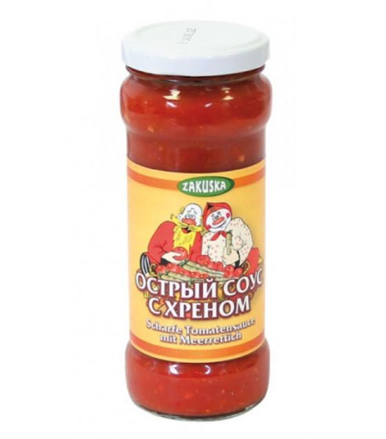 """STEINHAUER ZAKUSKA Spicy Sauce with Horseradish """"Na Pososhok"""" - 280g (best before 01.12.24)"""