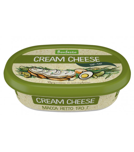 "BONFESTO Soft Cheese ""Cream Cheese"" ""Tartar"" with 70% fat - 170g (before before 29.04.21)"
