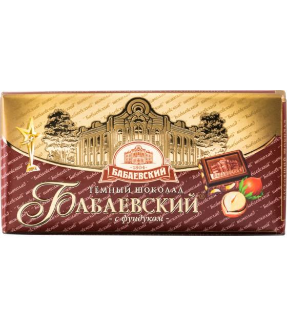 "Dark Chocolate ""Babayevskiy"" with Huzelnuts - 100g (best before 25.06.22)"