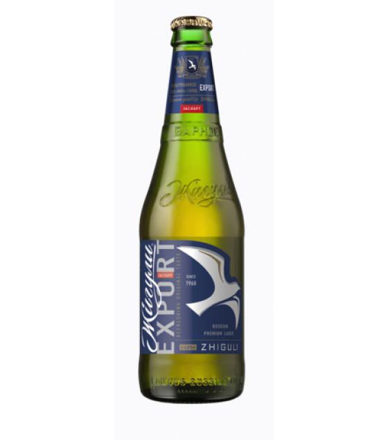 """Lager Beer """"ZHIGULI Export"""" 4,8 % - 450ml (best before 15.06.21)"""