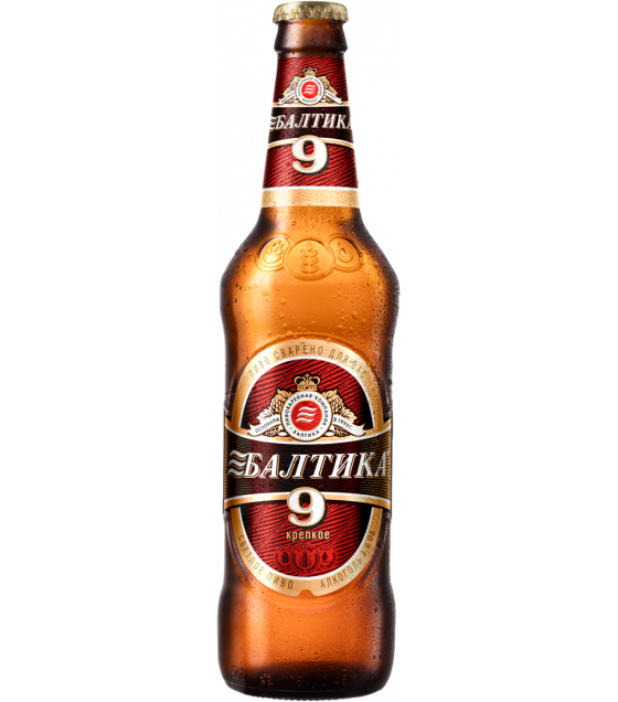"Lager Beer ""Baltika N 9 Extra"" pasteurized 8,0 % - 450ml (best before 12.05.21)"