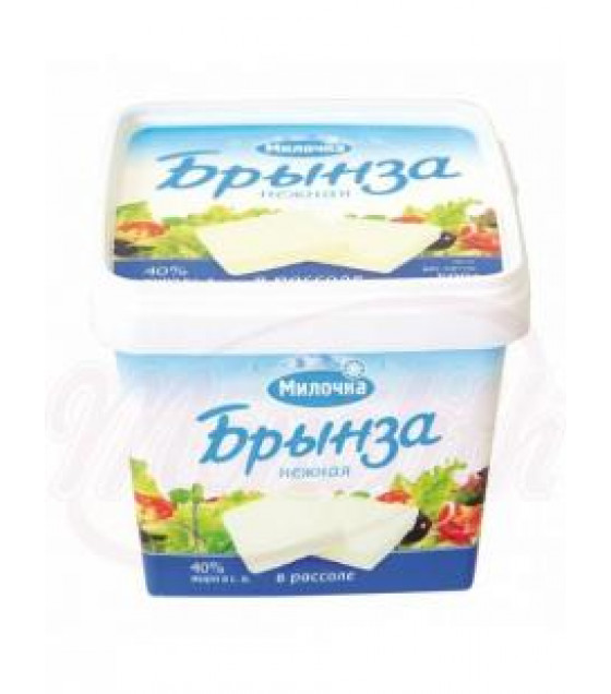 "MILOCHKA White Soft Cheese ""Brynza Nejnaya"" 40% (in brine) - 480g (best before 20.07.21)"