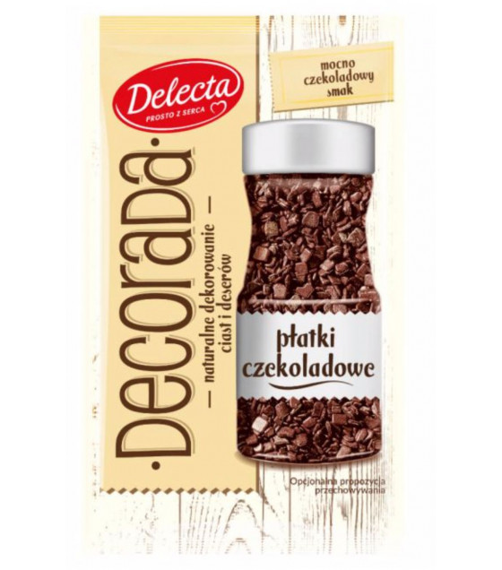 BAKALLAND DECORADA Baking Decoration Chocolate Flakes - 30g (best before 30.09.21)