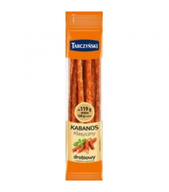 TARCZYNSKI Kabanos Classic Poultry and Pork Smoked Sausages (Drobiowy) - 385g (best before 27.10.20)