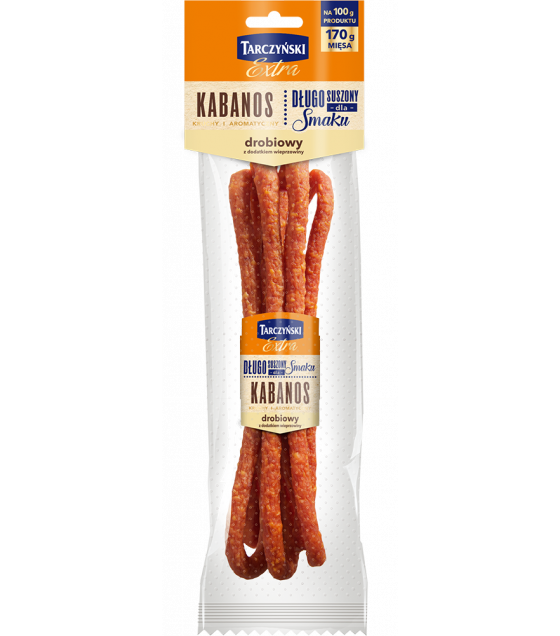 TARCZYNSKI Kabanos EXTRA Poultry Pork smoked sausages - 130g (best before 14.11.20)