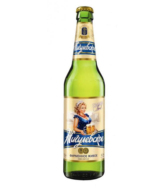 "Lager Beer ""Jigulevskoe Firmennoe"" pasteurized 4,5% - 470ml (best before 03.06.21)"
