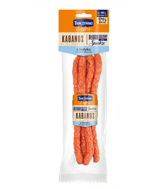 TARCZYNSKI Kabanos EXTRA Turkey with Pork Smoked Sausages - 130g (best before 25.11.20)