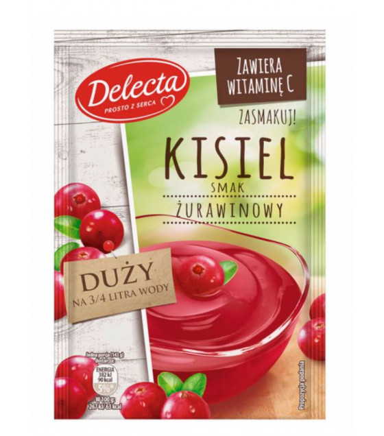 BAKALLAND Cranberry Water-based pudding (Kisiel) - 58g (best before 30.09.21)