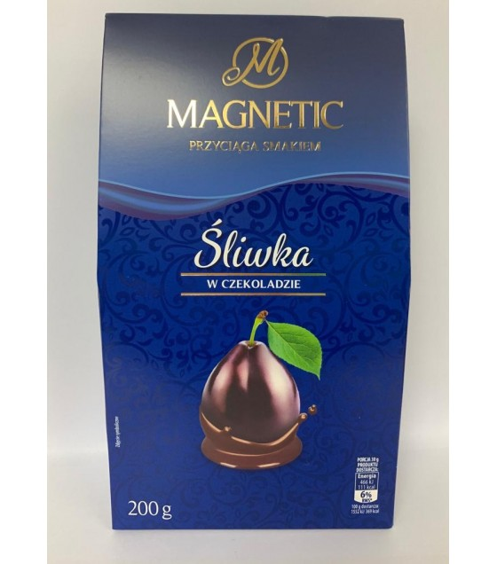 MAGNETIC Candies Sliwka chocolate coated  - 200g (exp. 11.07.20)