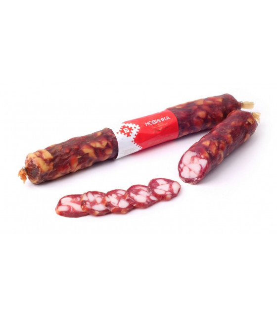 "BREST MEAT Raw Smoked Sausage ""Novinka"" - aprox 400g (weight)  (best before 11.03.21)"