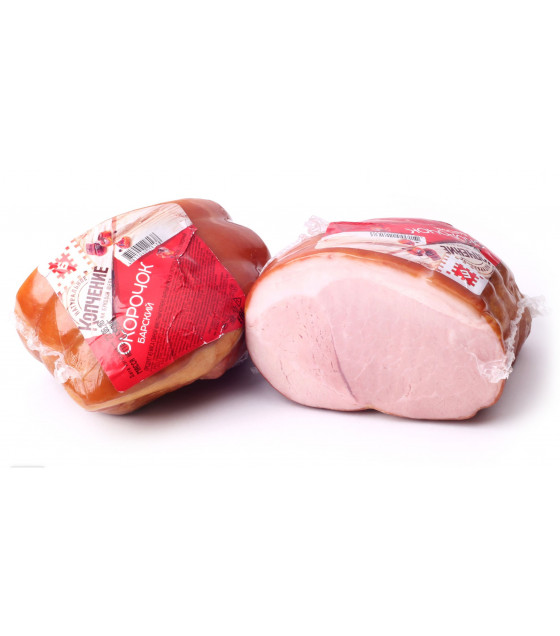 "BREST MEAT Smoked-Boiled Pork Ham ""Okorochek Barskyi"" (weight) - around 380g (best before 15.03.21)"