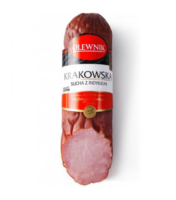 "OLEWNIK Sausage ""Krakowskaya"" pork with turkey - 320g (exp. 13.04.20)"