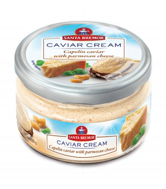 "SANTA BREMOR Delicacy Capelin Caviar Cream ""With Parmesan Cheese"" - 180g (best before 30.11.20)"